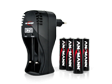 ELECTROFITNESS Chargeur universel + piles AAA rechargeables